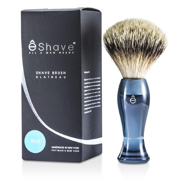 EShave Finest Badger Long Shaving Brush - Blue 1pc Men's Skin Care