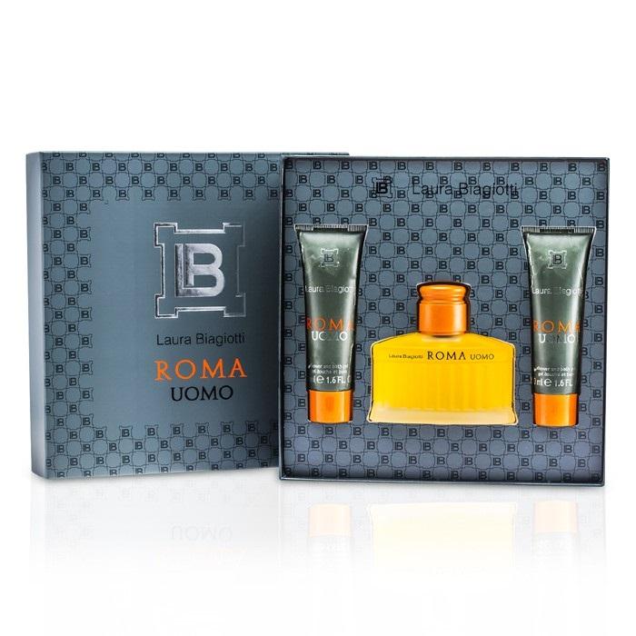 Laura Biagiotti Roma Coffret: EDT Spray 75ml/2.5oz + Shower & Bath Gel Men's