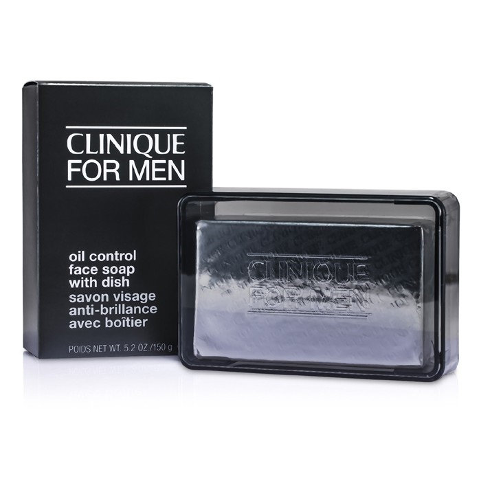 Clinique Oil Control Face Soap with Dish 150g Men's Skin Care