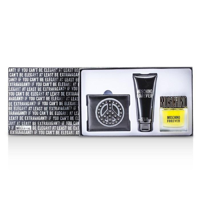 Moschino Forever Coffret: EDT Spray 50ml/1.7oz + Bath & Shower Gel 3pcs Men's